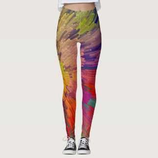 Digital Reefs: coral colors Leggings
