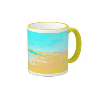 Digital seascape coffee mugs