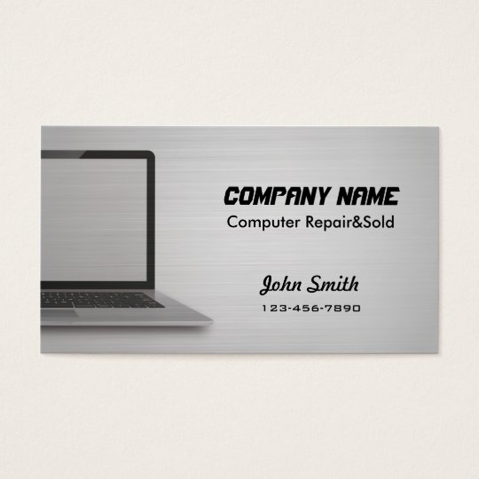 Digital Silver Computer Repair sold business cards