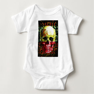 digital Skull (flag of spain) Baby Bodysuit