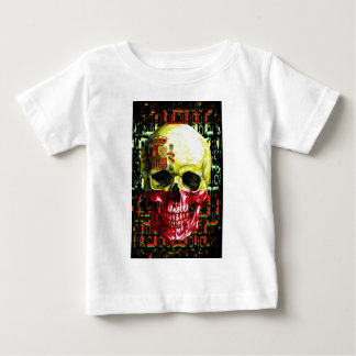 digital Skull (flag of spain) Baby T-Shirt