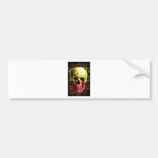 digital Skull (flag of spain) Bumper Sticker