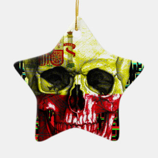 digital Skull (flag of spain) Christmas Ornament