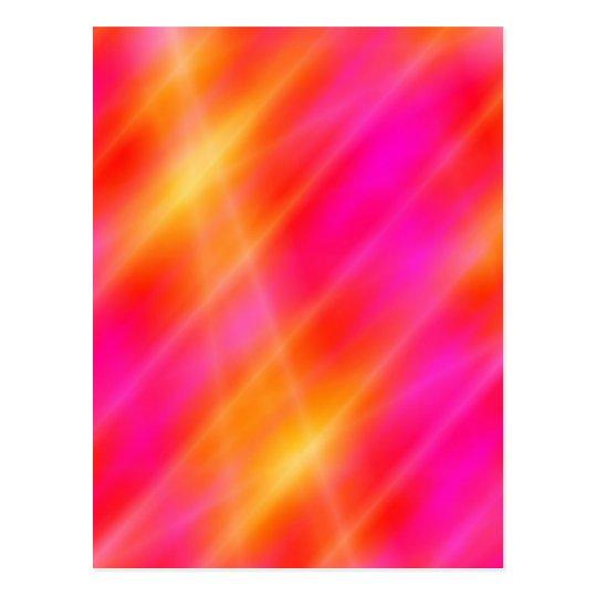 Digital Space Art Postcard - Pink / Orange Lights
