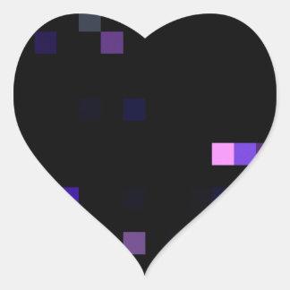 Digital Space Heart Sticker