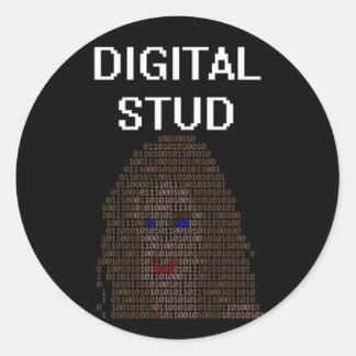 Digital Stud Round Sticker