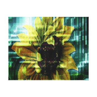 Digital Sunflower Canvas Prints