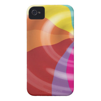 DIGITAL SWIRLS RAINBOW COLORFUL VECTOR FUN PARTY S Case-Mate iPhone 4 CASES
