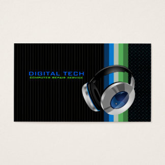 Digital Tech. Headphones Business Cards