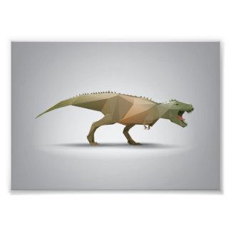 Digital Tyrannosaurus Rex Polygonal Abstract Art Photo Art