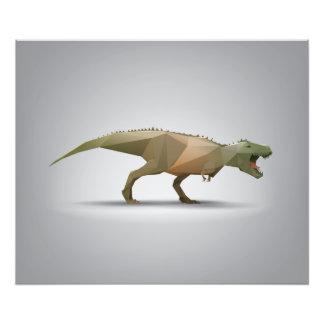 Digital Tyrannosaurus Rex Polygonal Abstract Art Photo Print
