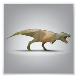 Digital Tyrannosaurus Rex Polygonal Abstract Art Photograph