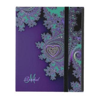 Digital Violet Purple Celtic Fractal iPad Case