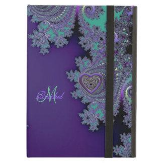 Digital Violet Purple Fractal Cover For iPad Air