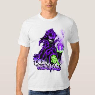 Digital Warlock Purple Warlock - Basic American Ap Tees