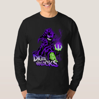 Digital Warlock Purple Warlock - Basic Long Sleeve T-Shirt