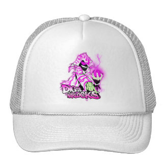 Digital Warlocks Pink and White Warlock - Trucker Hats