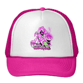 Digital Warlocks Pink and White Warlock - Trucker Trucker Hat
