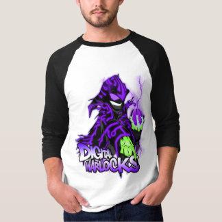 Digital Warlocks Purple Warlock - Basic 3/4 Sleeve T Shirt