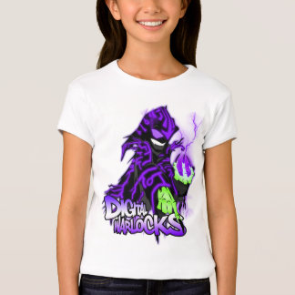Digital Warlocks Purple Warlock - Girls Baby Doll T-Shirt
