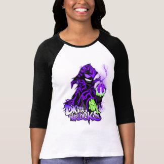 Digital Warlocks Purple Warlock - Ladies 3/4 Sleev Tee Shirts