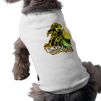 Digital Warlocks Yellow Warlock - Doggie Ribbed Ta Sleeveless Dog Shirt