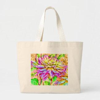 Digital Watercolor Dahlia Gift Tote Bag