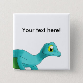 Digital Watercolor Winged Gecko Animal 15 Cm Square Badge