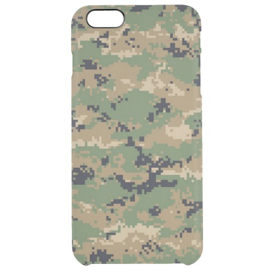 Digital Woodland Camo No.2 Clear iPhone 6 Plus