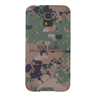 Digital Woodland Camouflage Customizable Cases For Galaxy S5
