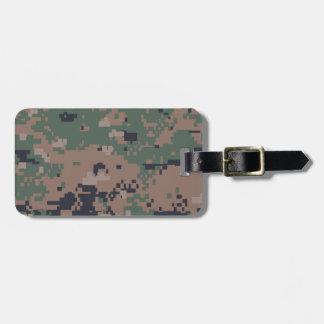 Digital Woodland Camouflage Luggage Tag