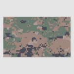 Digital Woodland Camouflage Rectangle Stickers