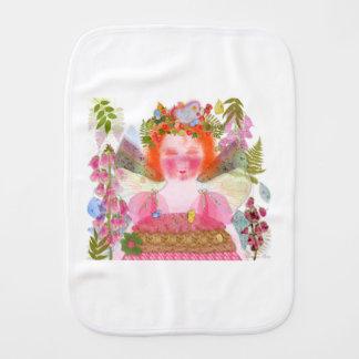 Digitalis faery baby baby burp cloth