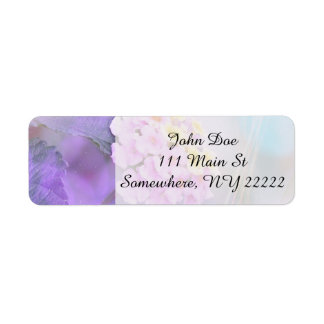 Digitally Enhanced Flower Return Address Label