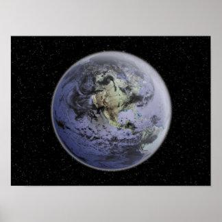 Digitally enhanced image of the Full Earth Poster
