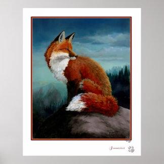 Digitally Enhanced Red Fox Poster