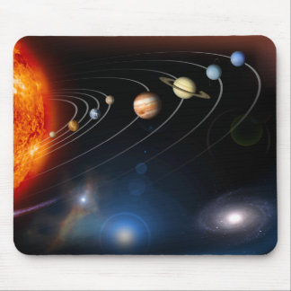 Digitally generated image of our solar system mouse pad