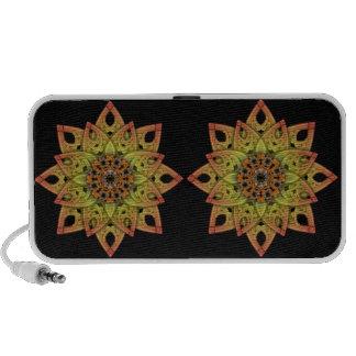 Digitally Grown Flower 2nd Bloom Transparent Laptop Speakers