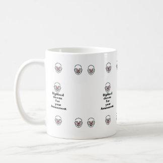 Digitized clown mug