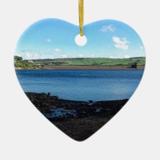Digley Reservoir Ceramic Heart Decoration