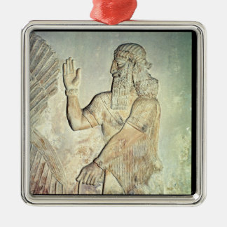 Dignitary, relief, Assyrian Christmas Ornament