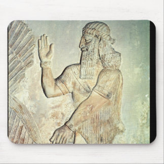 Dignitary, relief, Assyrian Mouse Pad