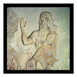 Dignitary, relief, Assyrian Print