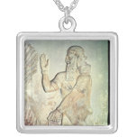 Dignitary, relief, Assyrian Square Pendant Necklace