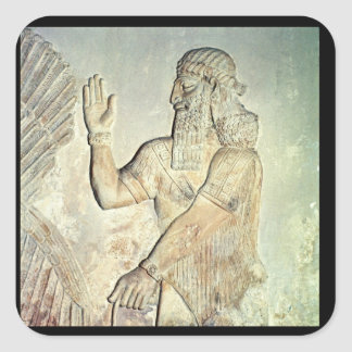 Dignitary, relief, Assyrian Square Sticker