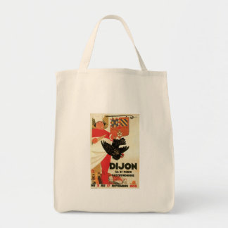 Dijon Chicken Vintage Food Ad Art Tote Bags