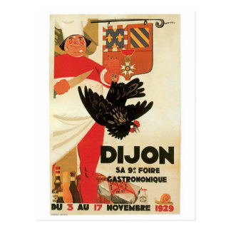 Dijon Chicken Vintage Food Ad Art Postcard