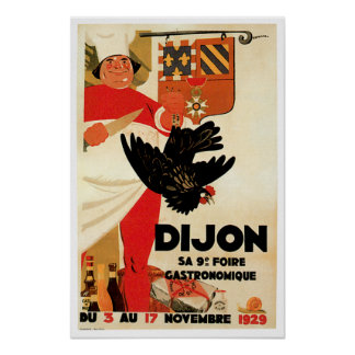 Dijon Chicken Vintage Food Ad Art Poster