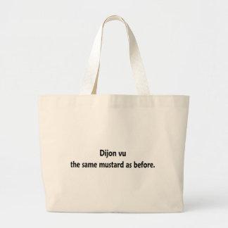 Dijon vu canvas bags