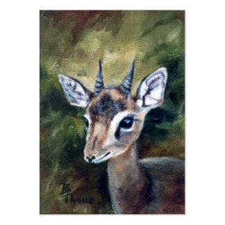 Dikdik Dwarf Antelope Artcard Pack Of Chubby Business Cards